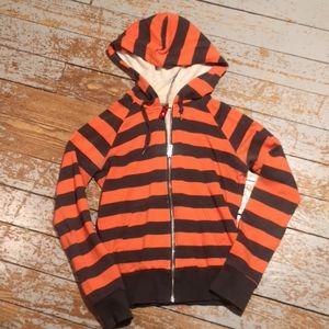 Divided zip up hoodie